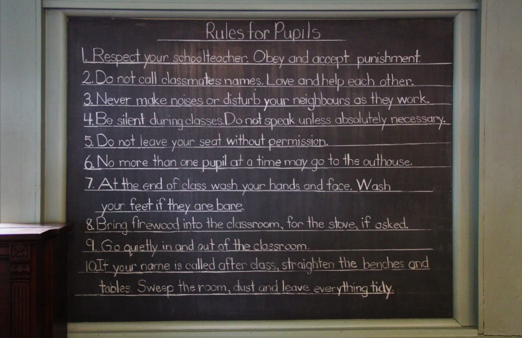 jordan-village-niagara-festivals-pioneer-day-school-house-rules